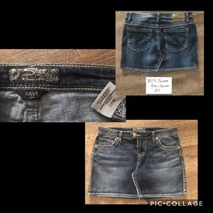Silver Ravi Jean Skirt